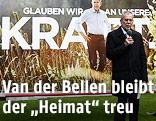 Alexander Van der Bellen bei der Präsentation seiner neuen Wahlplakate
