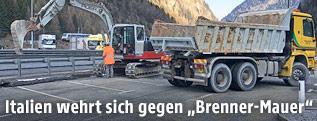 Bauarbeiten am Brenner