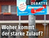 AfD-Plakat vor einer Wohnsiedlung
