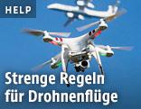 Drohne mit einem Flugzeug