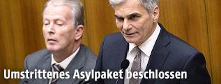 Bundeskanzler Werner Faymann und Vizekanzler Reinhold Mitterlehner