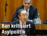 UNO-Generalsekretär Ban Ki Moon hält Rede vor Nationalrat im Parlament