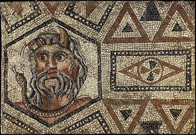 Platte des Acheloos-Mosaiks aus der Römischen Kaiserzeit, Anfang 3. Jahrhundert