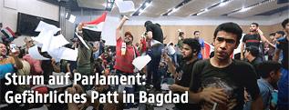 Sturm auf das Parlament in Badgad