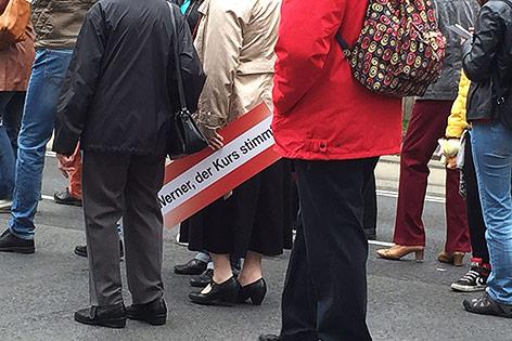 Teilnehmer beim 1. Mai Aufmarsch der SPÖ