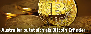 Mehrere Bitcoin-Münzen
