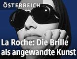 Robert La Roche, Sonnenbrille, Modell S-86, Werbekampagne Damenkollektion, fotografiert von Gerhard Heller (Fotomodell: Cordula Reyer), um 1990