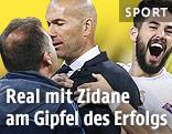 Jubel von Zinedine Zidane und Real Madrid