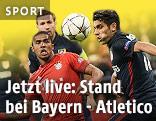 Szene aus dem Spiel Bayern - Atletico