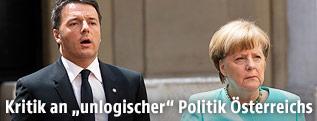 Bundeskanzlerin Merkel und Premier Renzi