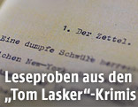 Textausschnitt aus Tom Laskers Krimis