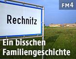 Ortsschild von Rechnitz