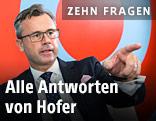 Bundespräsidentschaftskandidat Norbert Hofer auf der ORF.at-Wahlcouch