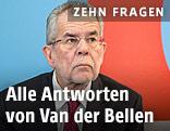 Bundespräsidentschaftskandidat Alexander Van der Bellen auf der ORF.at-Wahlcouch