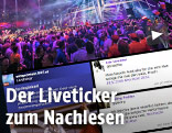 Screenshot des Song-Contest-Livetickers von ORF.at