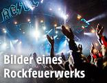 Bühne und Publikum beim Konzert von AC/DC