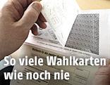Kuvert einer Wahlkarte