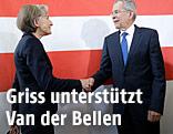 Budespräsidentschaftskandidat Van der Bellen und Irmgard Griss