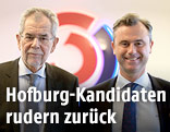 Die Hofburg-Kandidaten Alexander van der Bellen und Norbert Hofer