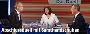 Norbert Hofer und Alexander Van der Bellen im ORF-TV-Duell