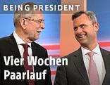Bundespräsidentschaftskandidaten Alexander van der Bellen und Norbert Hofer