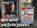 Wahlplakate von Alexander van der Bellen und Norbert Hofer