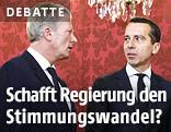Vizekanzler Reinhold Mitterlehner (ÖVP) und Bundeskanzler Christian Kern (SPÖ)