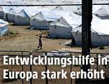 Bub in einem Flüchtlingscamp in Griechenland