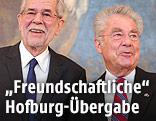 Bundespräsident Heinz Fischer und sein designierter Nachfolger Alexander Van der Bellen