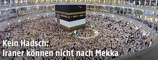 Pilger beim Hadsch in Mekka