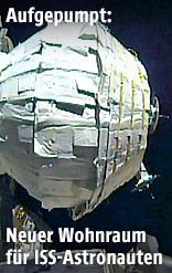 Aufblasbare Erweiterung der Internationalen Raumstation ISS