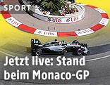 Formel-1-Auto auf der Strecke in Monaco