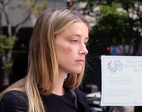 Amber Heard nach ihrem Gerichtstermin