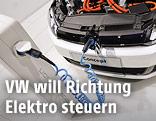 Elektroauto von VW wird geladen