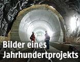 Arbeiter im Gotthard-Tunnel