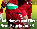 Farbige Unterwäsche eines Nationalspielers während eines FIFA-Turniers