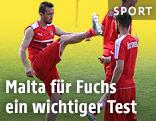 ÖFB-Teamkapitän Christian Fuchs beim Training