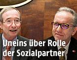Christoph Leitl (Präsident WKÖ) und Rudi Kaske (Präsident AK)