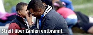 Flüchtlinge an der ungarisch-österreichischen Grenze