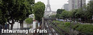 Pegelstände in Paris gehen nach dem schweren Hochwasser wieder langsam zurück