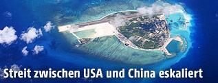 Luftaufnahme von Woody Island (Yongxing)