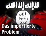 Hände vor einem IS-Zeichen
