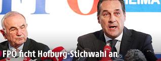 Rechtsanwalt Dieter Böhmdorfer und FPÖ-Bundesparteiobmann Heinz Christian Strache