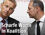Die Klubchefs Reinhold Lopatka (ÖVP), Andreas Schieder  (SPÖ)