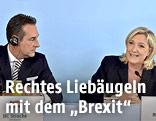 FPÖ-Chef Heinz-Christian Strache und Front National-Präsidentin Marine Le Pen