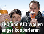 Die AfD-Vorsitzende Frauke Petry und der FPÖ-Vorsitzende Heinz-Christian Strache