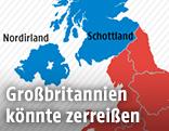 """Eine Grafik zeigt das regionale """"Brexit""""-Abstimmungsergebnis"""