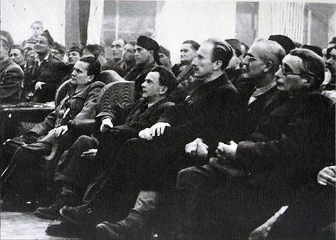Tagung der AVNOJ (Antifaschistischer Rat der Nationalen Befreiung Jugoslawiens) in Jajce, 1943