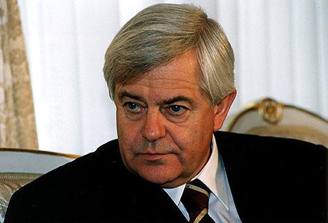 Der ehemalige Präsident der Republik Slowenien Milan Kucan, 1994