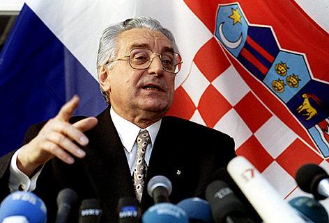 Der ehemalige Präsident Kroatiens Franjo Tudjman, 1994